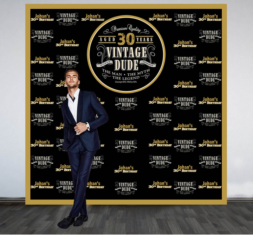 Custom Vintage Dude 50th Birthday Backdrop High Quality Computer Print Party Background In From Consumer Electronics On Aliexpress