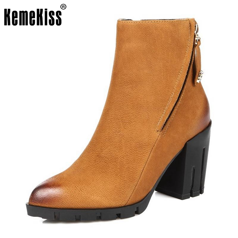Women Real Leather Boots Winter Ankle Boots Ladies Sexy High Heel Fashion Pointed Toe Zipper Riding Boots Women Shoes Size 34-39 fashion winter women short boots sexy pointed toe platform high heel shoes big size 32 46 solid pu ladies zipper ankle boots