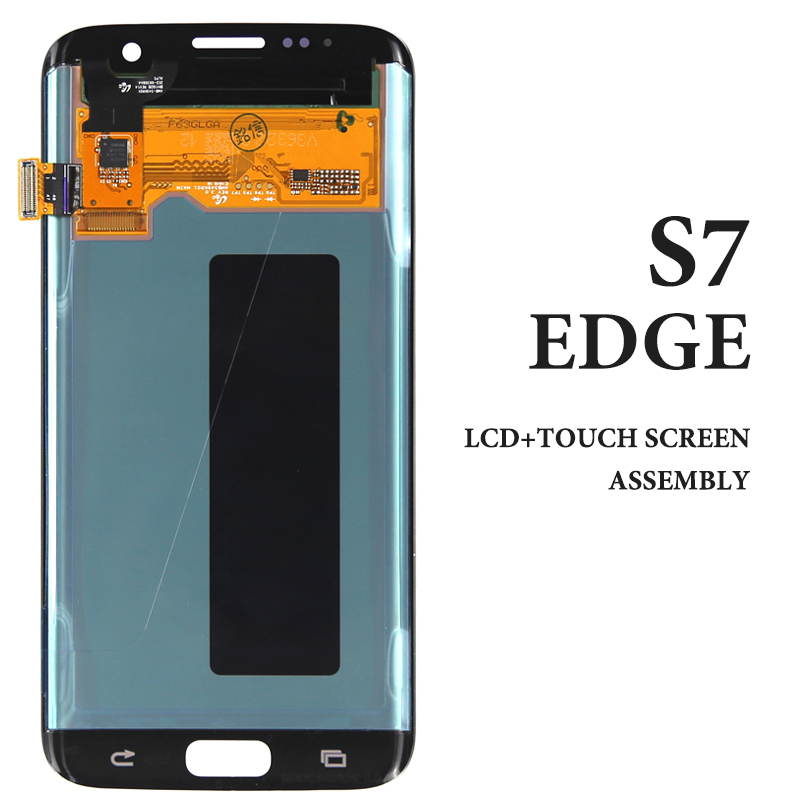 Pour Samsung Galaxy S7 edge LCD testé AMOLED gris or argent blanc Skyblue rose G935 G935F G935A assemblage tactile pièces maisla