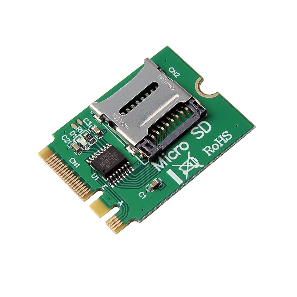SP M2 NGFF Key A.E WIFI Slot To Micro SD SDHC SDXC TF Card Rearder T-Flash Card M.2 A+E Card Adapter Kit