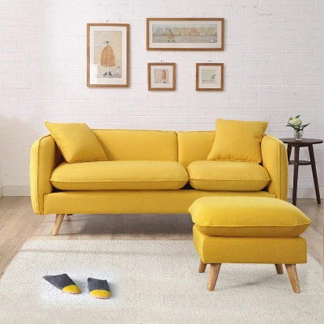 Office Sofas Bed Office Furniture Solid Wood Linen One Two Three