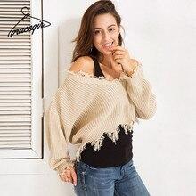 Gracegirl 2017 зимние свитера женщин серии Осень Повседневная открытыми плечами толстые вязаные пуловеры свитер женский B17072106