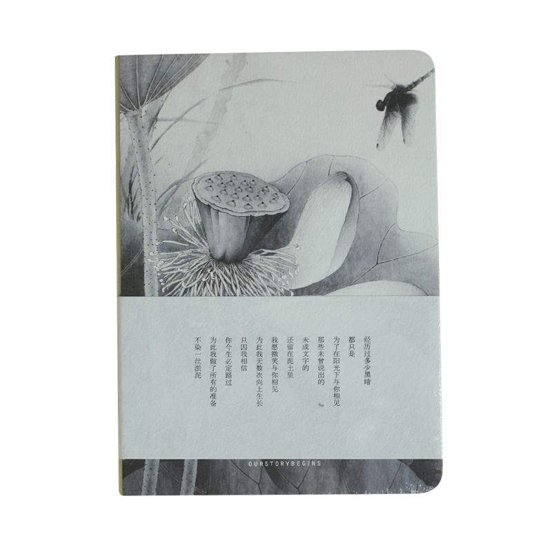 Affordable Sketchbook Blank Papers Diary Pocket Journal School Study Notebook Gray+white, Lotus B xuanxuan diary white xs