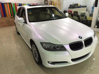 1.52*18m High Quality With Air Bubble Free Satin Chameleon White to Purple Vinyl Film For Car Wraps
