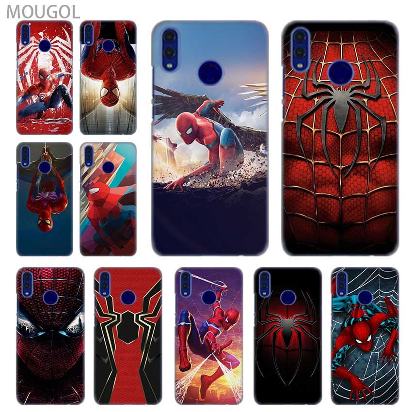 SHELI <font><b>phone</b></font> shell <font><b>case</b></font> cover for Huawei <font><b>Honor</b></font> 4C 5X 6 6X 6C 7X 7C 7a Pro 8 8X <font><b>9</b></font> 10i <font><b>Lite</b></font> 8a spiderman <font><b>marvel</b></font> superheroes Pattern image
