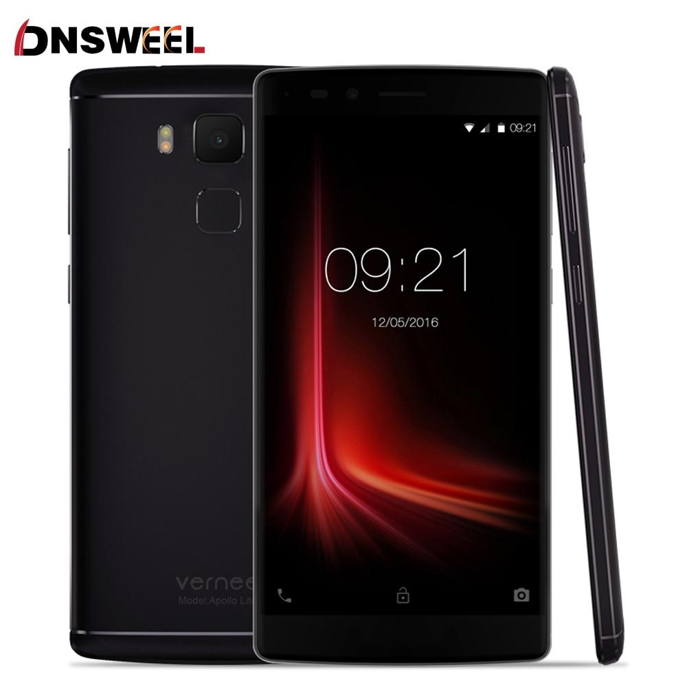 Vernee Apollo Lite Smartphone Android 6.0 MT6797 Deca-Core 5.5 Inch 16MP Camera 4G RAM 32G ROM Mobile phone Fingerprint Type-C
