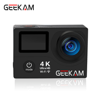 Original GEEKAM H3R/H3 action camera 4K wifi Ultra HD 1080p/60fps 720P/120FPS pro waterproof mini cam bike video sports camera