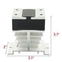 Venta Caliente de alta Calidad LSR1-1-310AA 10A AC a AC 90-250VAC a 24-440AC Compuesto Térmico SSR Relé de Estado Sólido + Disipador de Calor Nuevo
