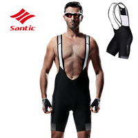 Santic Summer Triathlon Race Cycling Bib Shorts Pro Breathable Mesh Padded Men Road Racing Downhill Cycling Lightweight Pants
