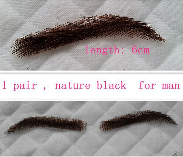 1 Pair False Eyebrows Human Hair Real Hair Eyebrows For Women In