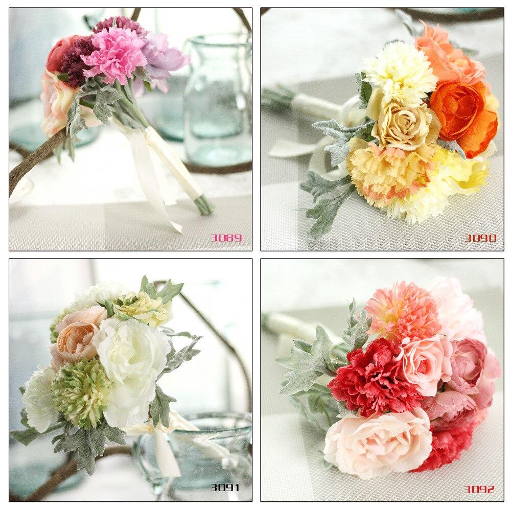decor home wedding decoration DIY Celebrate hand holding flower decoration gift beam simulation flower 4 color Choose