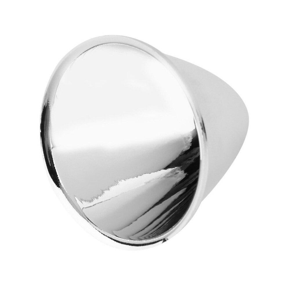 Wymiana reflektor puchar abażury aluminium srebrny dla C8 XM-L LED latarka latarka DIY lampa światła łatwy w instalacji bez narzędzi