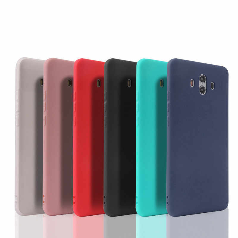Soft Silicone Candy Matte Case for Huawei P8 lite 2017 P9 P10 P20 Lite Plus Nova Honor 6C 6A 6X Honor 8 Honor 9 Mate 10 lite