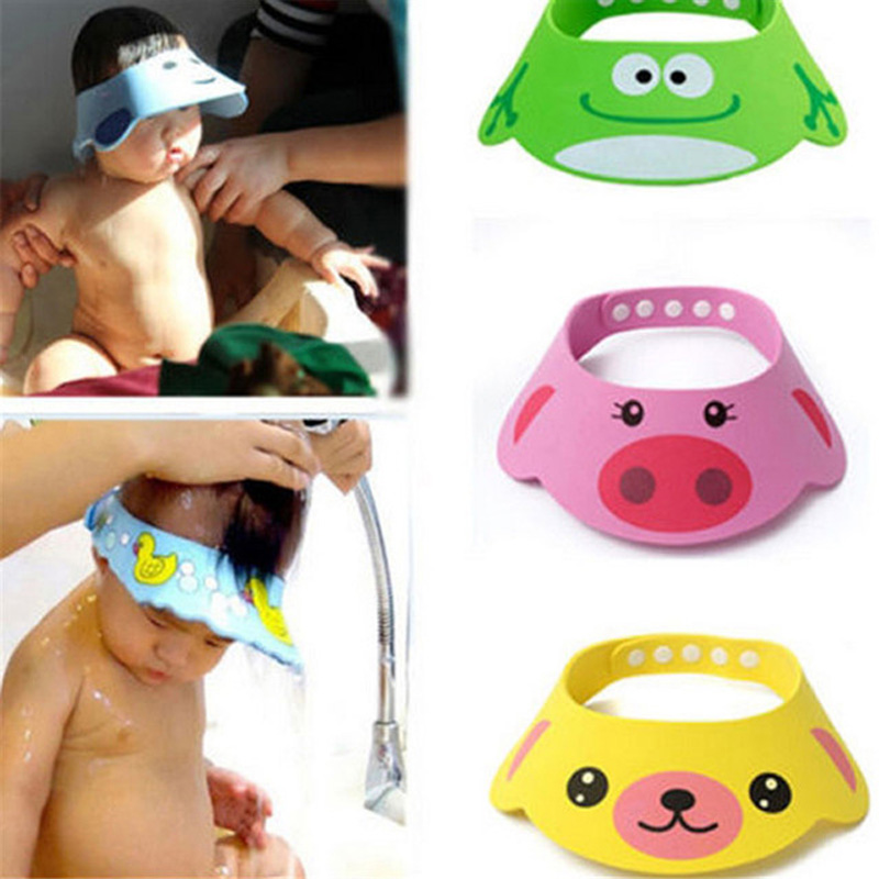 Adjustable Baby Shower Hat Toddler Kids Shampoo Bathing Shower Cap Wash Hair Shield Direct Visor Caps for Baby Care 1pc