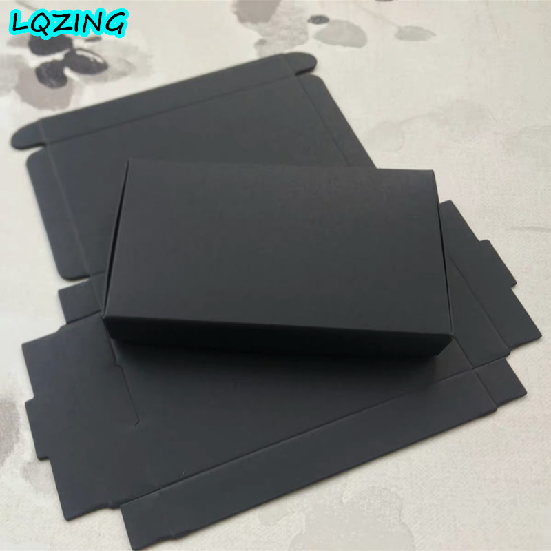 Small Black Gift Box,Cheap Black Ring Box,black Craft Paper Storage Box For Watches/handmade Soap/candy Package