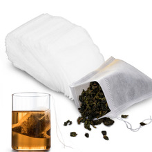 100 Pcs/Lot Disposable Tea Bags For Puer Green Bag Infuser With String Heal Seal 7 x 9cm Sachet Teabag Empty