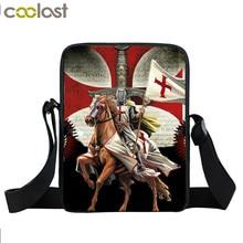 Крестоносец тамплиеров мини сумка Для мужчин крест Уцененный сумки на плечо для мальчиков-подростков сумки через плечо детская книга сумка подарок