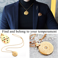 New arrival ! Energy Round Pendant Necklace With Magnetic Germanium FIR Health Amulet Men Women Necklace