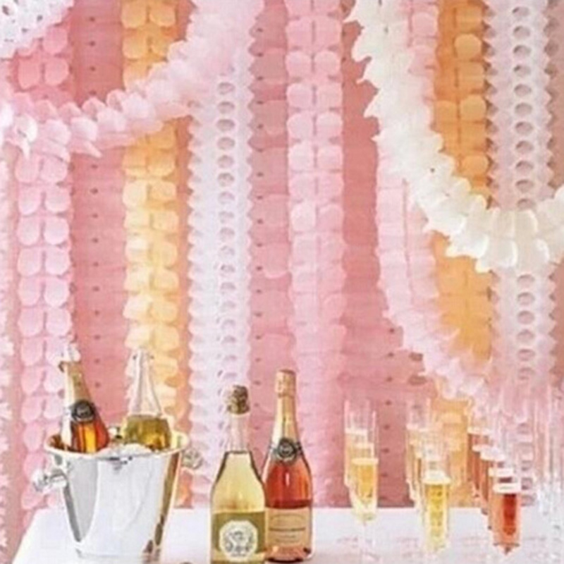 1set 3.6m Four Leaf Clover Paper Garland Baby Shower Birthday banner Party Home Decoration Beautiful Wedding Marriage Room Decor