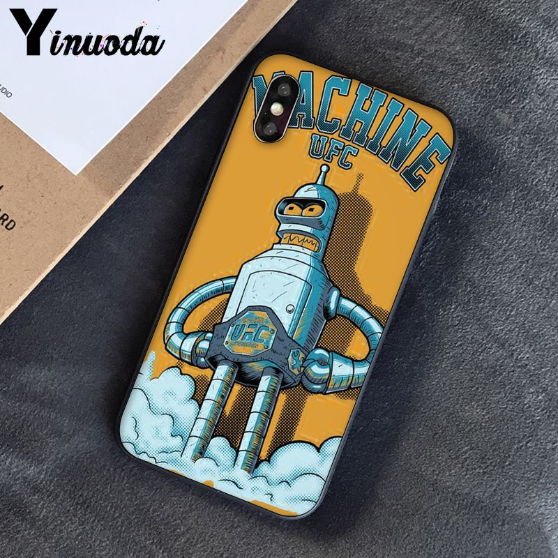 Image 3 - Yinuoda Futurama Bender Smart Cover Black Soft Shell Phone Case for iPhone 6S 6plus 7 7plus 8 8Plus X Xs MAX 5 5S XR-in Half-wrapped Cases from Cellphones & Telecommunications