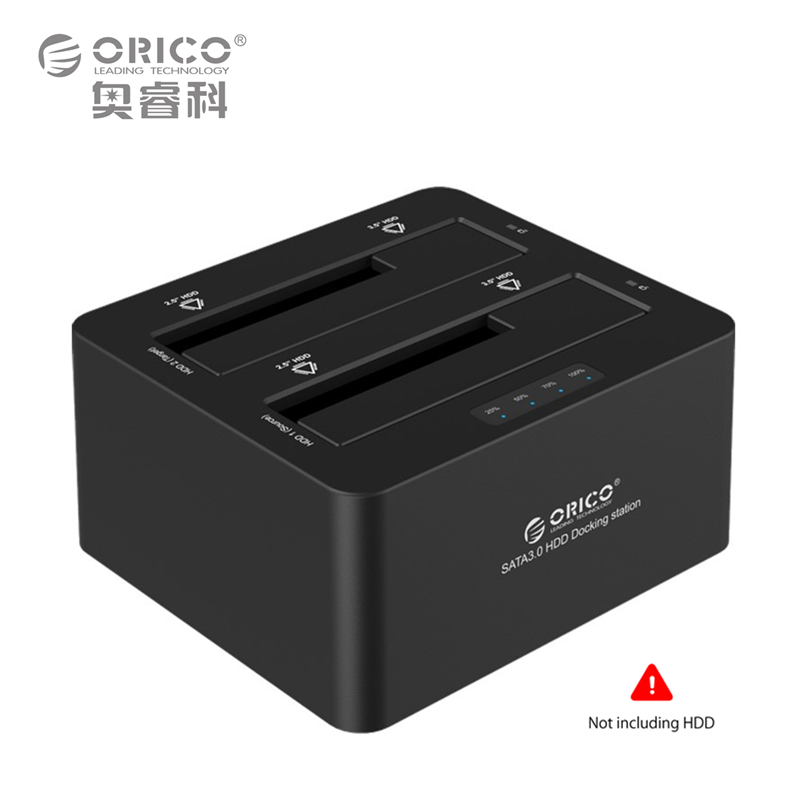 все цены на  Dual-bay External Hard Disk Drive Docking Station 2.5 3.5 USB3.0 to SATA3.0 HDD Offline Clone UASP Protocol 16TB (6629S3)  онлайн