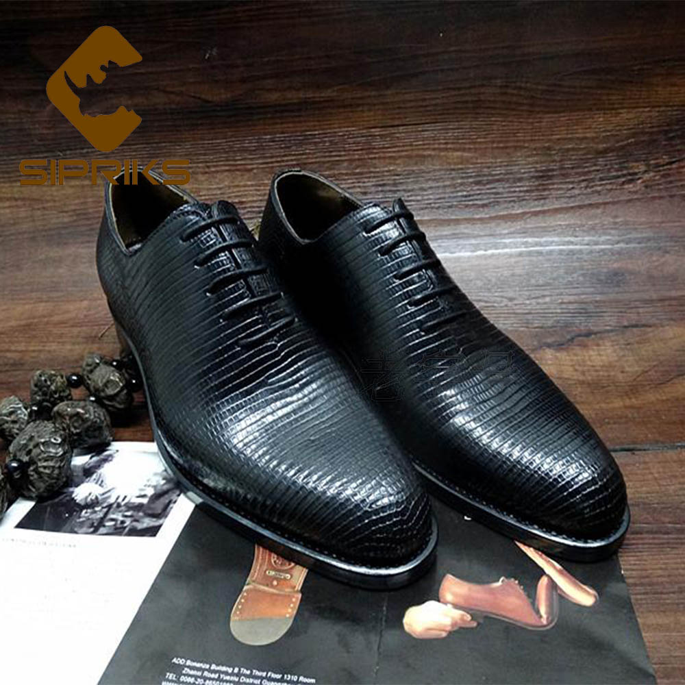 Brilliant Sipriks Luxury Mens Dress Oxfords Imported Lizard Skin Gents Suit Formal Tuxedo Shoes Italian Goodyear Welted Business Office 46 Bright In Colour Shoes Formal Shoes