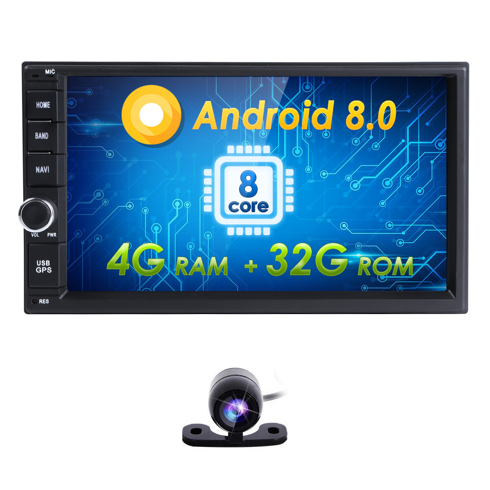4G+32G Android8.0 Auto Radio 8/OctaCore 7Inch 2DIN Universal Car NO DVD player GPS Stereo Audio Head unit Support DAB DVR OBD BT