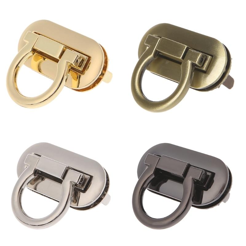 1 Pc High Quality Bag Lock  Metal Clasp Turn Lock Twist Locks For DIY Handbag Craft Bag Purse Hardware Accessories