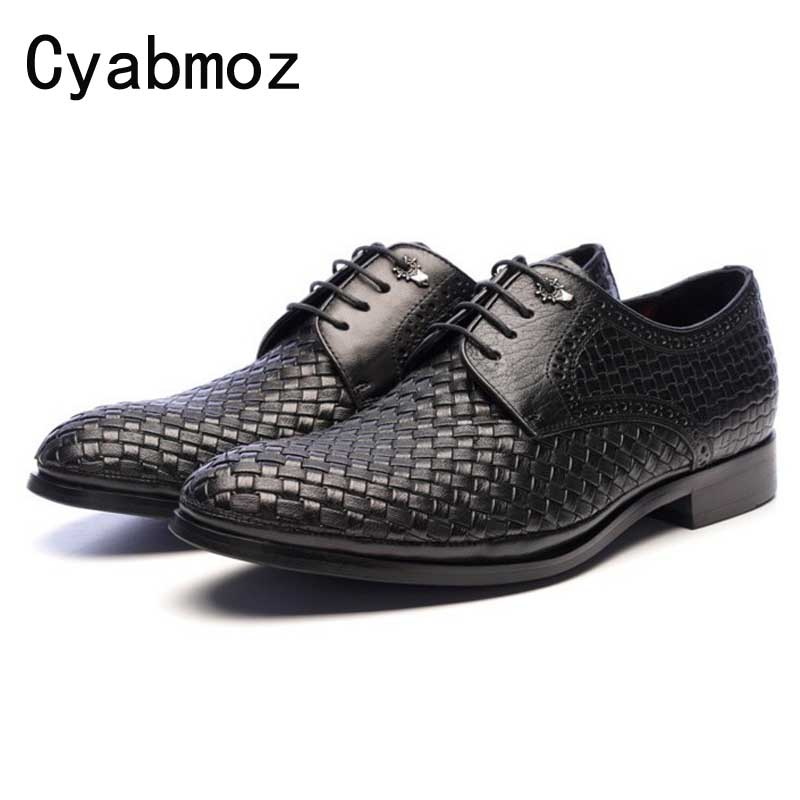 цена на Breathable Handmade Woven Business Formal Shoes Summer Mens Wedding Groom Shoes Genuine Leather Male Party Dress Shoes Casual