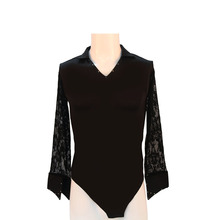 The new men's Latin dance clothes, Latin dance performance service black V online clothing LDY-132