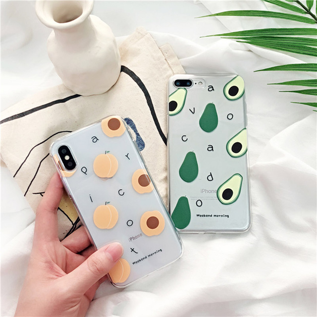 Summer Fruits Printed Clear Soft Phone Case For iPhone