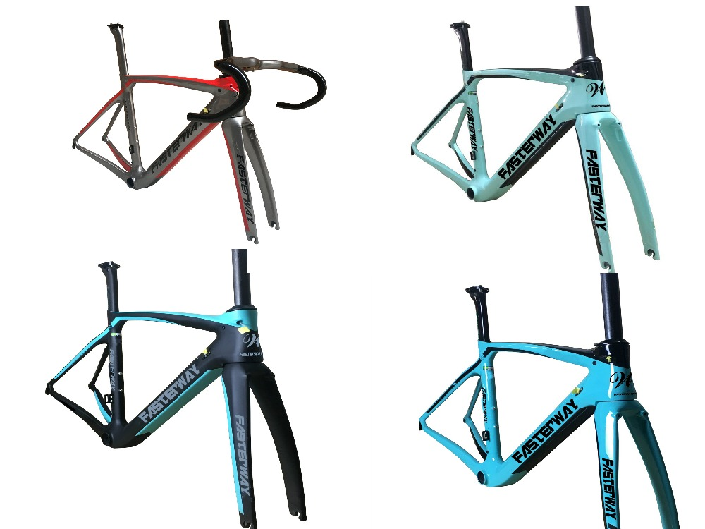 Fasterway XR4 Taiwan Made Carbon Frame Road Bike T1100 UD Carbon Bicycle Frameset:carbon Frameset+Seatpost+Fork+Clamp+Headset(China)
