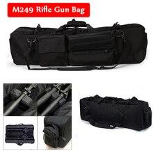 M249 Tactical Sniper Shooting Hunting Rifle Gun Carry Protection Bag Large Loading Shoulder Backpack Nylon Holster