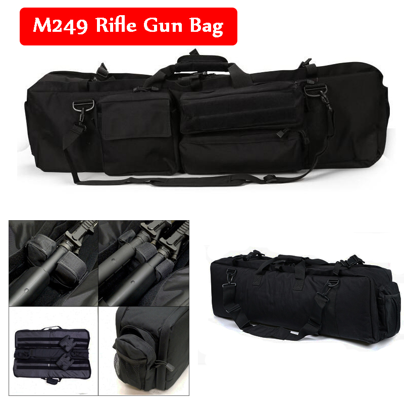 M249 Tactical Sniper Shooting Hunting Rifle Gun Carry Protection Bag Large Loading Shoulder Backpack Nylon Gun Holster