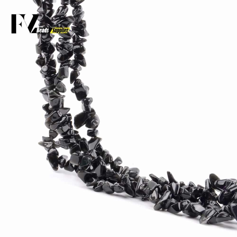 Natürliche Schwarz Achate Chips Perlen für Hand 5mm-8mm Unregelmäßigen Kies Stein Perlen Zubehör Diy Schmuck Machen 15 zoll