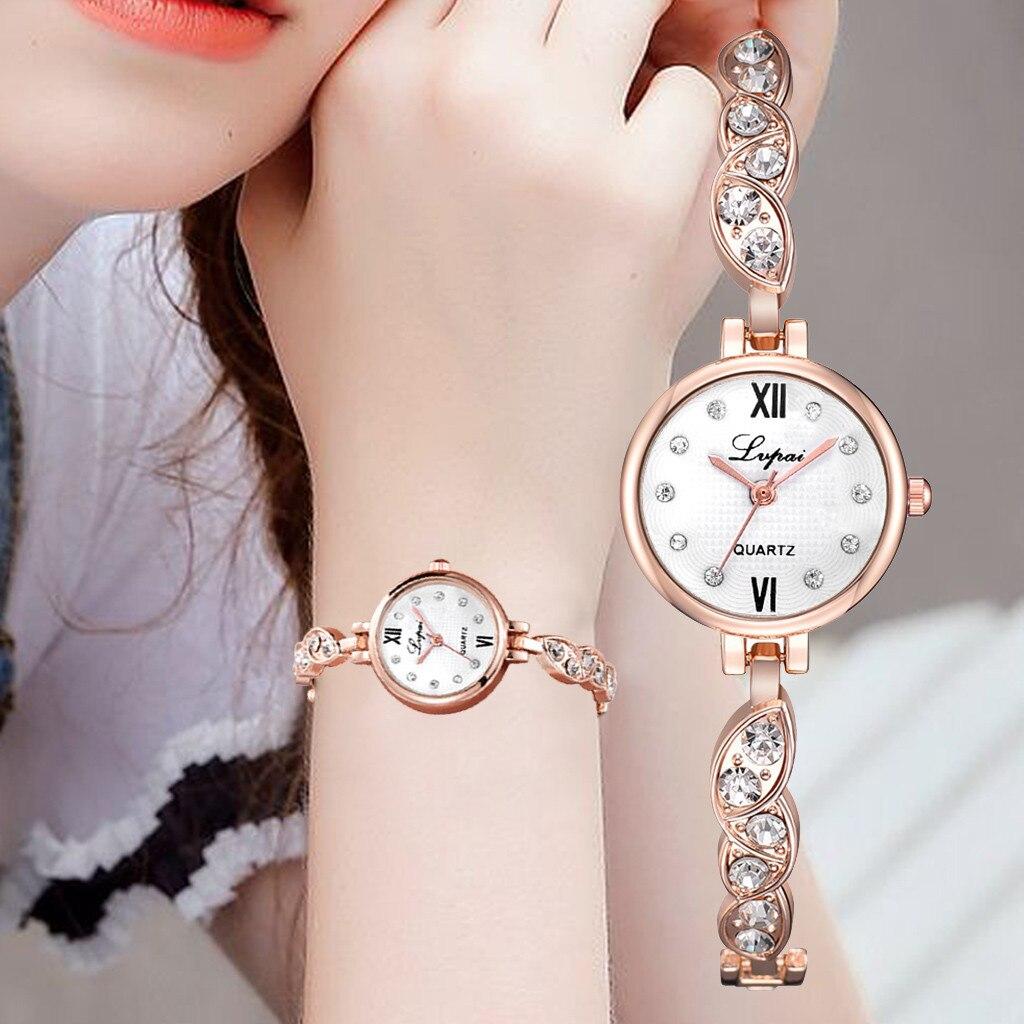 Geneva Casual Fashion Women Watches Metal Bracelet Ladies Clcok Crystal Diamond Women Wrist Watches Relogio Orologio Uomo Watch