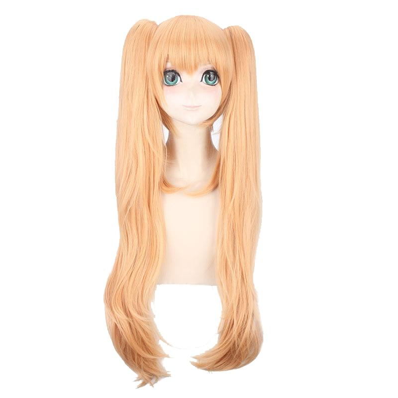 Girls/' Frontline UMP9 Cosplay Hair Wig Orange brown Pigtail Girl Game Sa