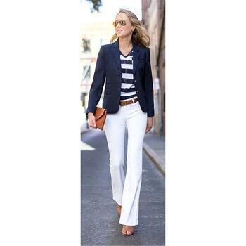 New Office Uniform Women Business Suit Female Trouser Suit 2 Piece Set Custom Bespoke New 100% Suits B06