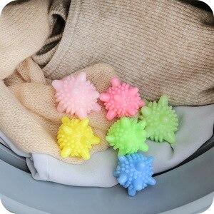 Image 3 - 5 قطعة قابلة لإعادة الاستخدام الغسيل الغسيل كرات مجفف الملابس كرات قابلة لإعادة الاستخدام النظيفة أدوات الغسيل غسل تجفيف منعم أقمشة الكرة مجففات