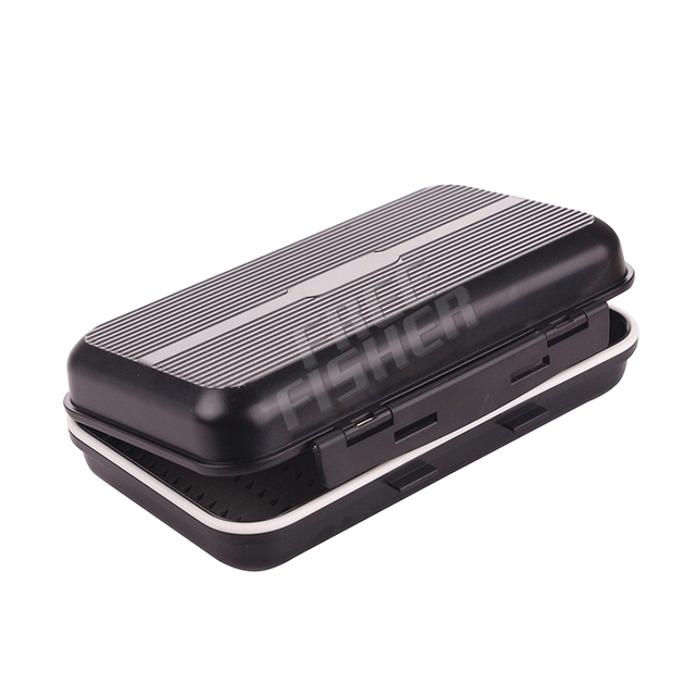 Freefisher Brand Black Plastic Fly Fishing Rod Tackle Boxes for Fly Fishing Accessoire Carpe Lure Box Accessories Fish Goods