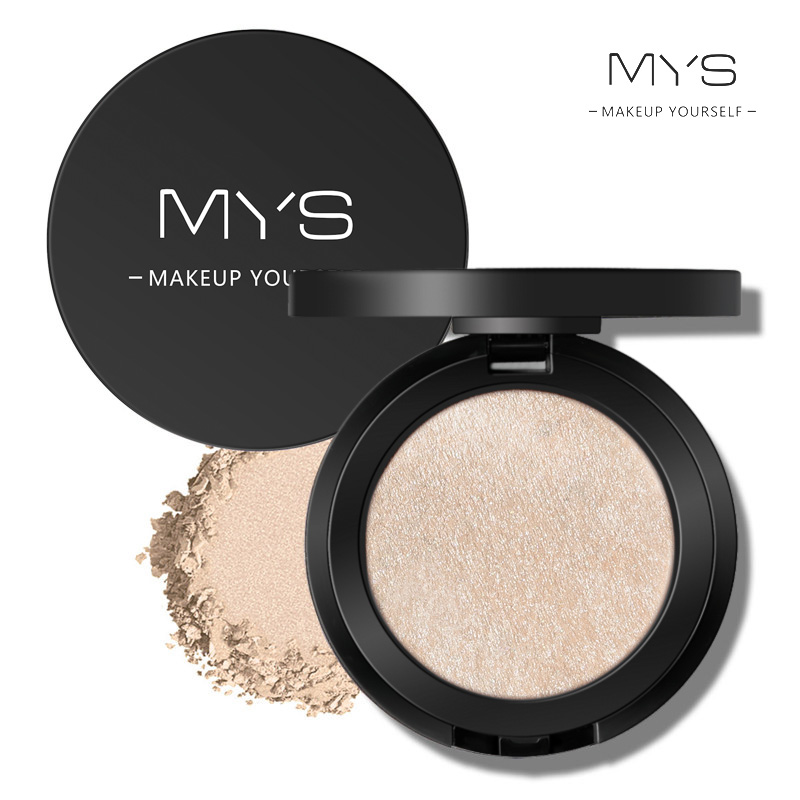 MYS brand professinal face makeup 6 color bronzer and highlighter palette powder make up glow kit highlighter contour palette image