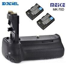M eike MK 70Dแนวตั้งแบตเตอรี่ที่ใส่G Ripกับ2xแบตเตอรี่LP E6สำหรับCanon EOS 70D 80Dกล้องDSLRเป็นBG E14