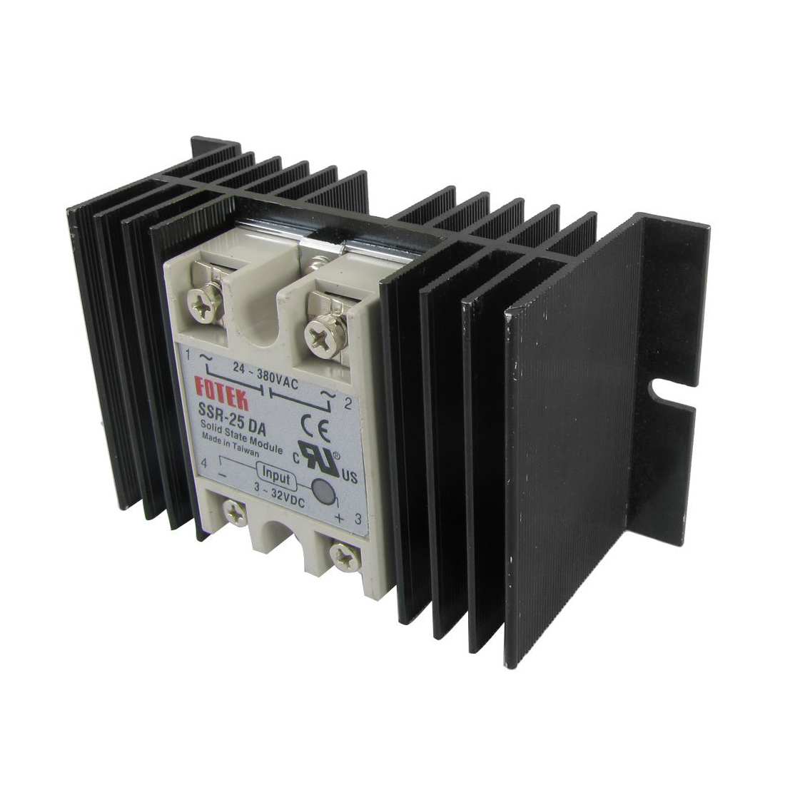 цена на DC to AC Solid State Relay SSR-25DA 25A 3-32V 24-380V + Aluminum Heat Sink