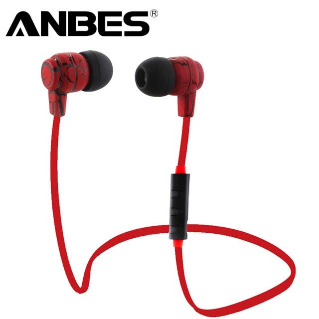 Anbes Sport Corsa e Jogging Cuffie Auricolari Bluetooth Cuffie Stereo Senza  Fili con Microfono auricolari per fb05656232f3