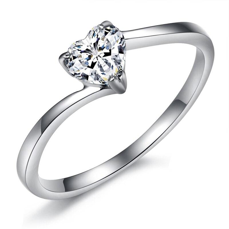 Romantic Heart shaped Rhinestone Wedding Rings for Women 2015 ...