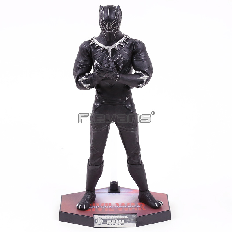 HC TOYS Marvel Avengers Infinity War Movable Black Panther PVC Action Figure Collectible Model Toy