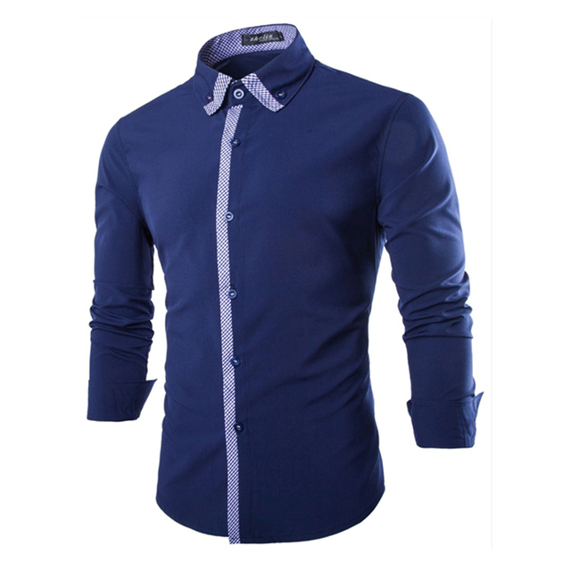 7c598e15e405 2017 new design Fashion men's shirts full sleeve American casual young man  tops boys Slim fit M-2XL free shipping