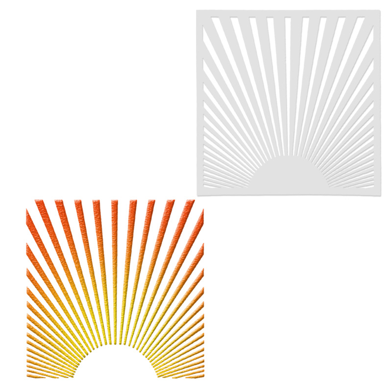 13*13 Sunlight Pvc Layering Stencils For Diy Scrapbook Coloring,painting Stencil,home Decor Diy Etc. Product Image