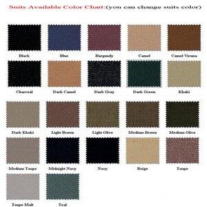 Image 5 - Customized Groomsmen Groom Tuxedos Dark Green Men Suits 2020 Wedding Best Man Blazers Smart Casual Men Suits (Jacket+Pants+Vest)