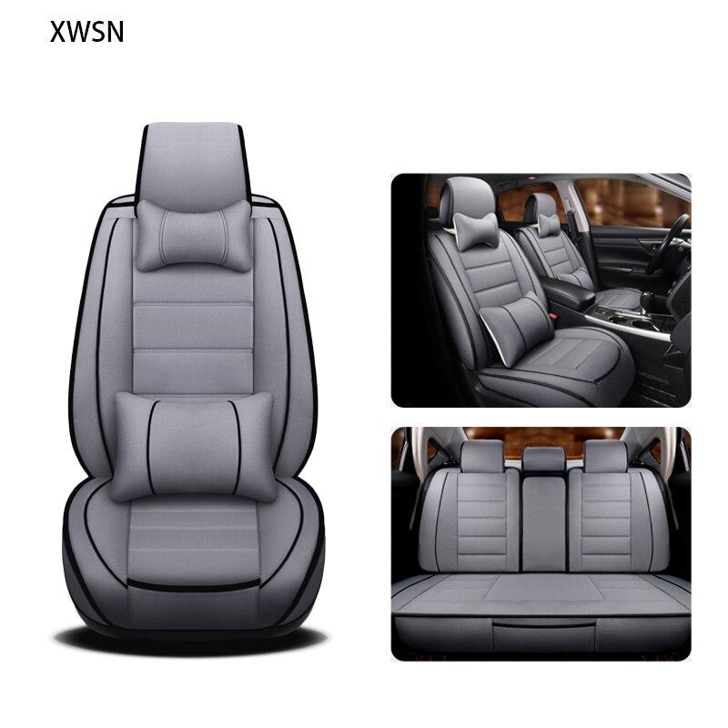 Lin housse de siège de voiture pour ssangyong action kyron korando rexton voiture accessoires